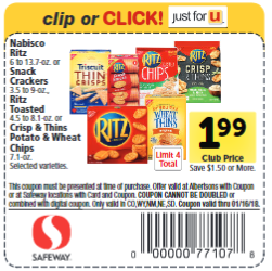 Nabisco Coupons – $0.24 for Cookies or $1.24 for Crackers