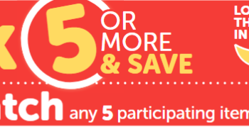 Pick 5 & Save Promotion at Safeway