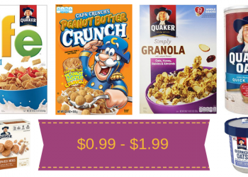 Quaker Cereals, Simply Granola, or Oats $1.38 (& More)
