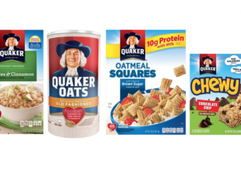 Quaker Oats, Bars, Oatmeal and Oatmeal Squares Cereal Just $1.99 With Coupon