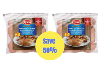 Save 50% on Tyson Frozen Chicken Breasts at Safeway (Just $1.79 per lb.)