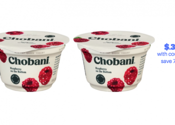Chobani Greek Yogurt Cups Just $.38 Each With New Coupon, Save 70%