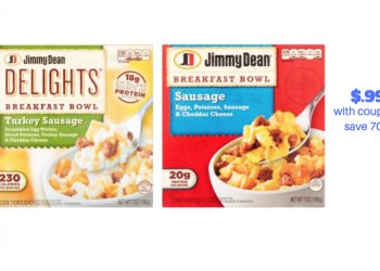 HOT!  Jimmy Dean Breakfast Bowls Just $.99 With Coupon Stack