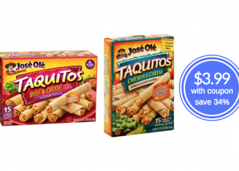 New Jose Ole Snacks Coupon – Pay Just $3.99 for Taquitos at Safeway