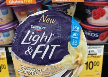 Get 2 FREE Dannon Light & Fit Zero Greek Yogurts With Coupon at Safeway