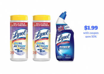 Stock up on Lysol Wipes and Cleaners – Just $1.99 Each After Coupon, Save 50%