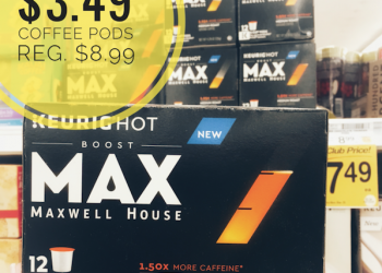 MAX Coffee Pods by Maxwell House Just $3.49 | Get 1.5 – 2x More Caffeine