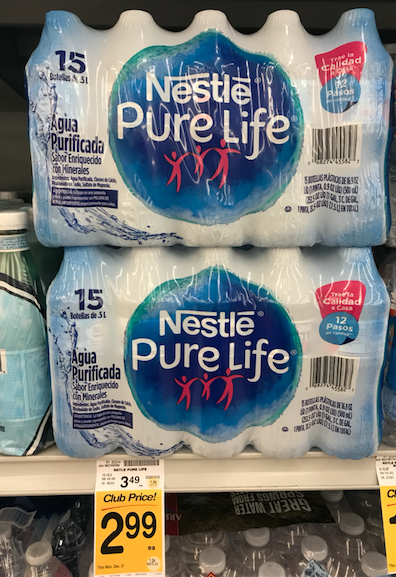 nestle pure life water 15 ct.