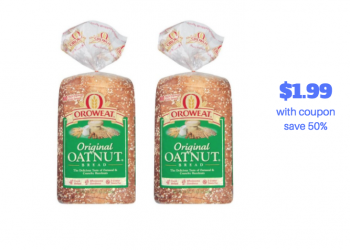 Oroweat Bread Just $1.99, Buns $1.49 With Coupon and Sale