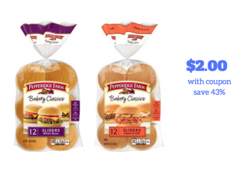 Pepperidge Farm Slider Buns Just $2.00 Each With Coupon & Sale