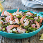 Roasted Shrimp & Asparagus Salad