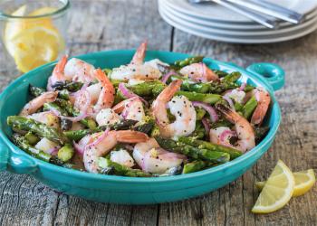 Roasted Shrimp & Asparagus Salad