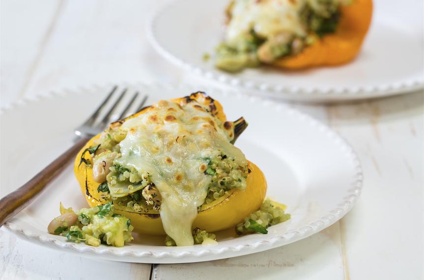 spinach_artichoke_Quinoa_Stuffed_peppers