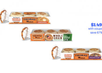 Thomas English Muffins Just $1.49 Each with Coupon Stack, Save 67%