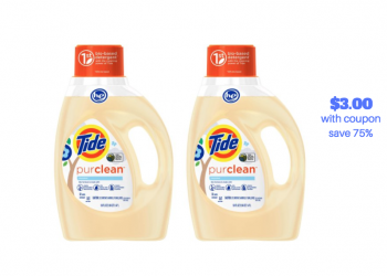 HOT Rare $5.00 off Tide Coupon – Pay Just $3.00 for Tide Purclean Detergent