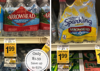 Arrowhead Sparkling or Spring Water Only $1.39 a 6-Pack – $0.23 per bottle