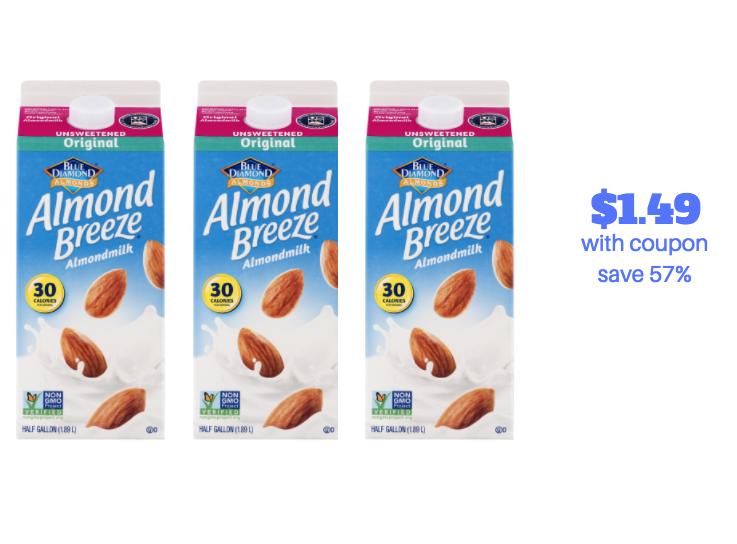 Blue Diamond Almond Breeze Milk