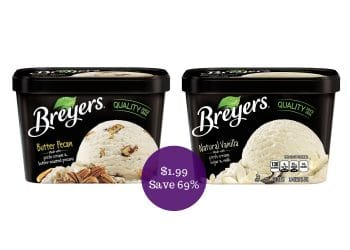 Breyers Ice Cream Coupon Deal = $1.99 Each at Safeway (Save 69%)