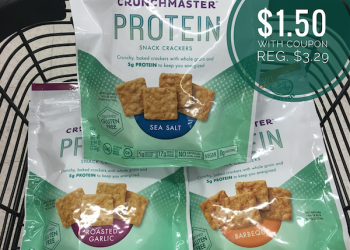 Crunchmaster Protein Crackers Just $1.50 With Coupon