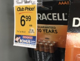 Duracell Batteries Coupon Deal – Pay as Low as $3.49 for AA or AAA 8 Packs