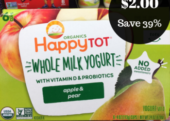 Happy Baby & Happy Tot Organic Yogurt – Only $2.00 ($0.33 Per Cup)