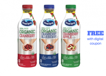 FREE Ocean Spray Organic Cranberry Juice at Safeway