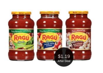 Ragu Coupon – Pay $1.19 for Pasta or Alfredo Sauce at Safeway