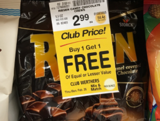 RIESEN Candy Sale – Buy 1, Get 1 FREE