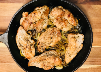 Skillet Roasted Chicken with Caramelized Fennel and Fingerling Potatoes