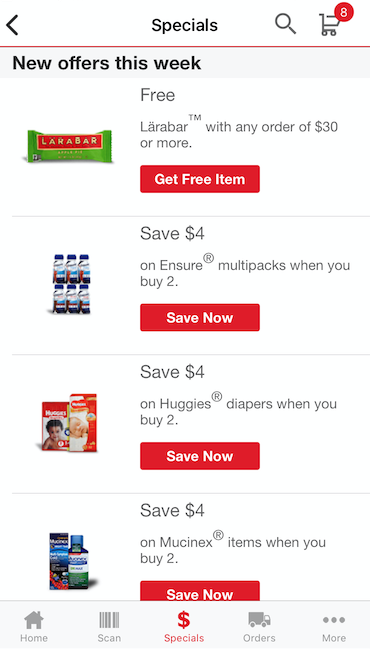 Safeway grocery pick up promos