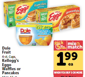 Eggo Waffles Just 99¢ With Coupon