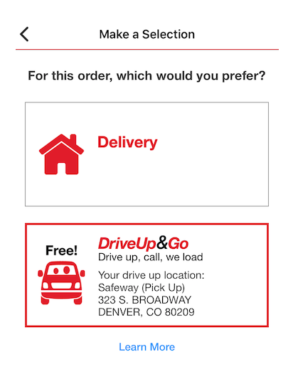 safeway grocery delivery