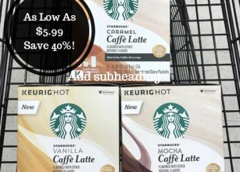 Starbucks Caffe Latte K-Cups As Low As $5.49