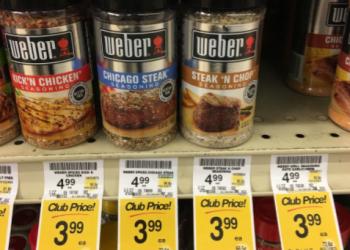 Weber Seasoning on Sale – Pay as Low as $2.99