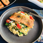 baked salmon with orzo