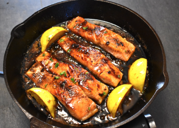 Honey, Garlic, Butter Salmon