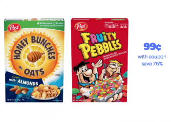 Get Post Honey Bunches of Oats and Post Pebbles Cereal for Just 99¢