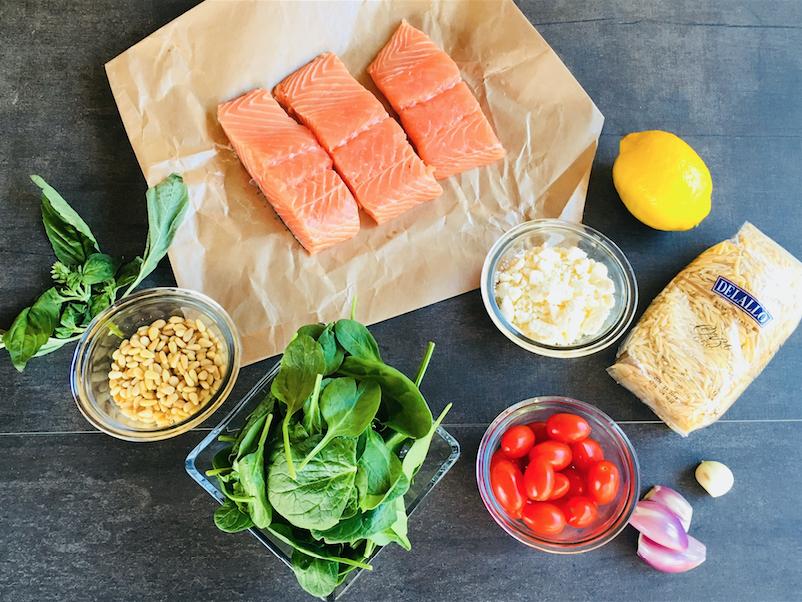 salmon with orzo recipe