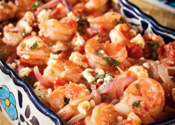 Shrimp Saganaki – Baked Shrimp with Feta and Tomatoes
