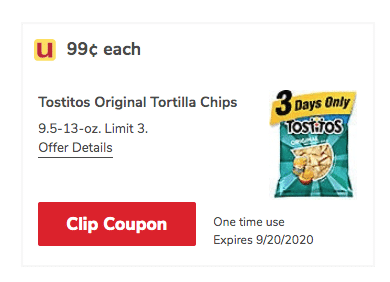 Tostitos Coupon Only 0 99 For Tortilla Chips This Weekend Super Safeway