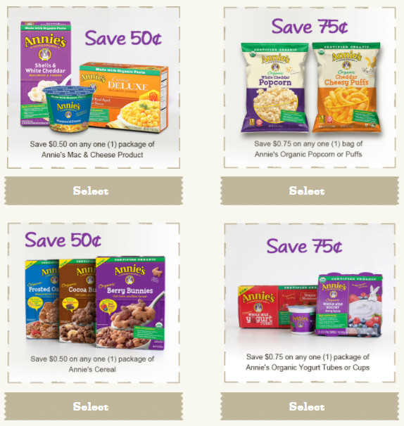 Annie's coupons 2018