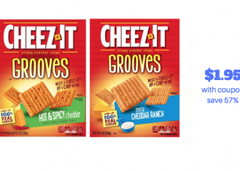 Get Cheez-It Grooves Crackers for Just $1.95 (Reg. $4.49)