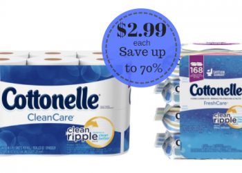 Cottonelle Bath Tissue & Flushable Wipes Only $2.99 – Save up to 70%