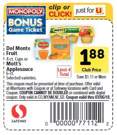 Del Monte SW coupon