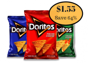 Doritos Tortilla Chips Just $1.55 With Mix & Match Sale (Through Today 3/27)