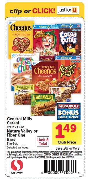 general mills cereals just 99 at safeway   super safeway
