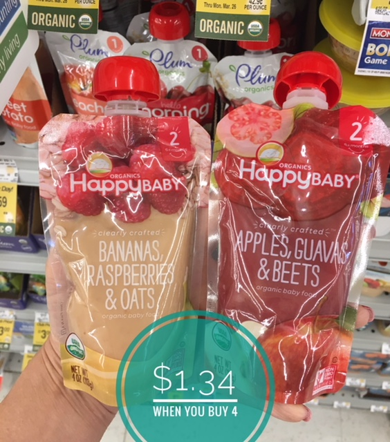 Happy Baby Organic Food Pouches