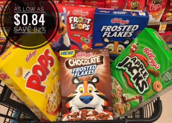 Kellogg's Cereals as Low as $0.84 at Safeway – Save as much as 82%