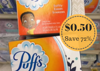 Puffs Facial Tissues Just $0.50 at Safeway With Sale and Coupon (Reg. $1.79)