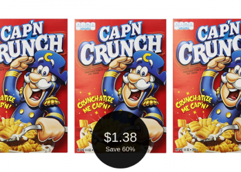 Cap'n Crunch Cereal Deal – Pay as Low as $1.38